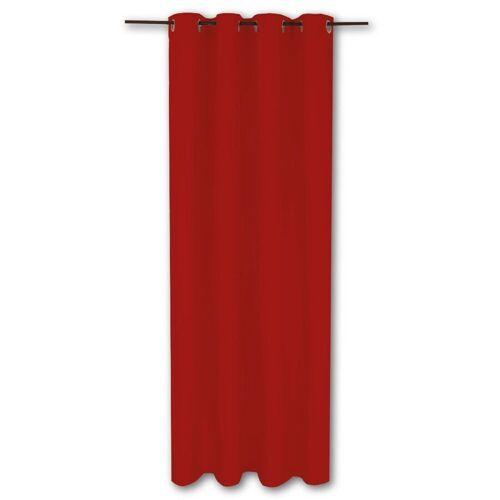 Bestlivings Vorhang, , Ösen (1 Stück), Thermogardine, blickdicht 140x245cm, hitzeabweisend und wärmeisolierend, Rot