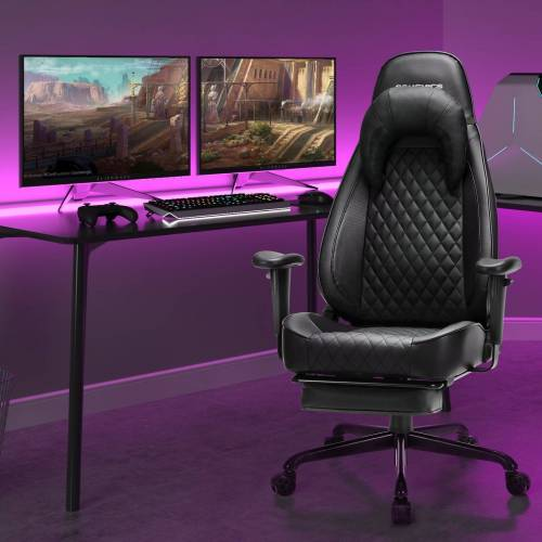 SONGMICS Gaming Chair »RCG45BK« Gamingstuhl, Bürostuhl, schwarz