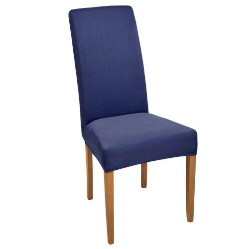 Beautissu Stuhlhusse »Mia«, , Stretch 35-50cm, Blau