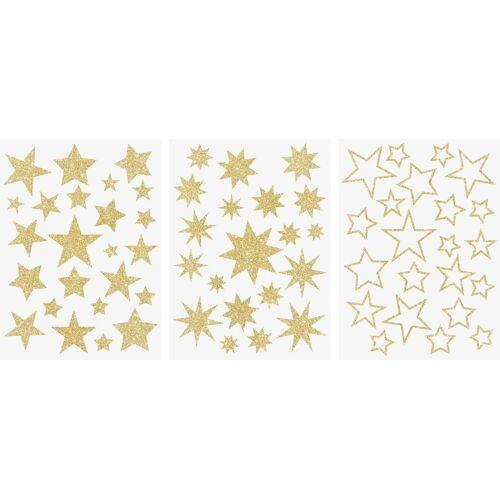VBS Fenstersticker »Sterne«, , Gold, 3 Bogen