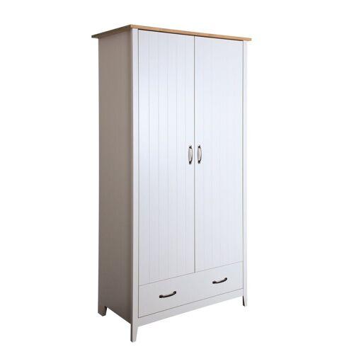 ebuy24 Kleiderschrank »Nord Kleiderschrank 2 Türen und 2 Schubladen hell«