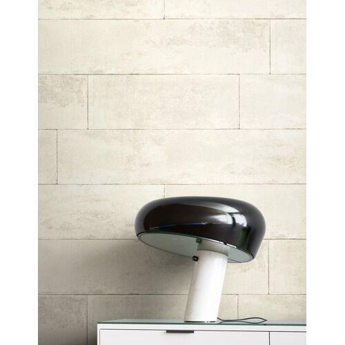 Newroom Vliestapete, Weiß Tapete Modern Stein - Beton Creme Grau Steintapete Steinoptik Backstein Industrial Bauhaus für Wohnzimmer Schlafzimmer Küche, weiß