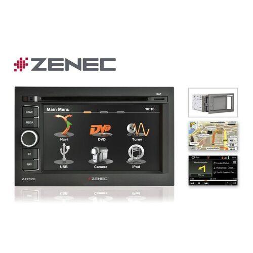 Zenec Audio-System (N720MH, N720 2DIN PKW und LKW + Wohnmobil Caravan Naviceiver mit Bluetooth / USB, Autoradio)