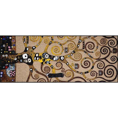 Salonloewe Fußmatte »Fußmatte waschbar Ethno Impressions Klimt Lebensbaum 75x190 cm«,