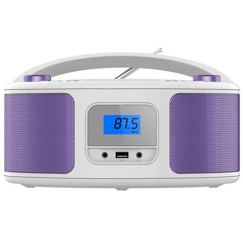 Cyberlux »CL-320« tragbarer CD-Player (CD-Player, Tragbarer CD-Player, FM Radio mit MP3 USB)