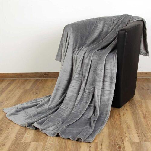 """Bestlivings Wohndecke, , Kuscheldecke """"Celina"""" - Grau - 60x80 cm (BxL) - hochwertige Flauschige Kuschel Decke in vielen Farben und Größen, Grau"""