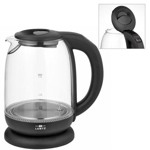 Lentz Wasserkocher Wasserkocher 1,7 Liter Glas Schwarz
