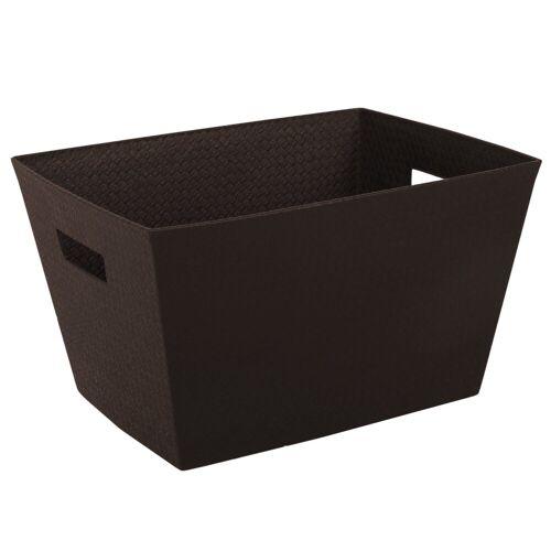 ONDIS24 Aufbewahrungsbox »Aufbewahrungsbox Otello Nähekiste Handtuchbox Tragekorb 30 Liter«, 30 liter, Braun