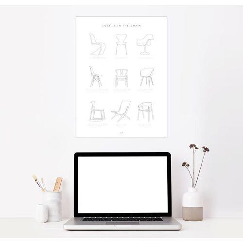 Posterlounge Wandbild, Stuhl Designklassiker