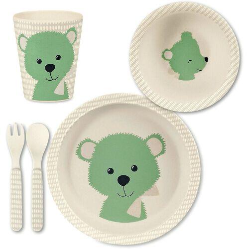 Sterntaler® Kindergeschirr-Set »Bambus Geschirr Set, Baylee blu«, grün