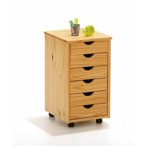 ebuy24 Kommode »Nilar Kommode Rollcontainer, 6 Schubladen, natur.«