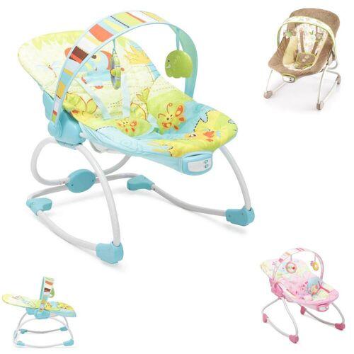 Moni Babywippe »Babywippe und Stuhl Merry 2 in 1«, mit Musikfunktion und Vibration, grün