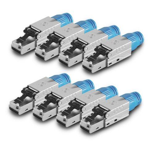 ARLI »Netzwerkstecker« Netzwerk-Adapter RJ45, 8x Netzwerkstecker RJ45 Stecker CAT8.1 geschirmt Werkzeuglose Montage Werkzeugfrei