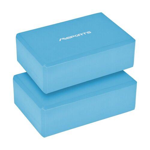 MSports® Yogablock »Yogablock in verschiedenen Farben - 2er Pack - Yogaklotz«, 2er Set Yogablock Cyan