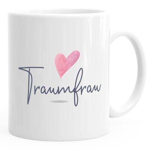 MoonWorks Tasse »Kaffeetasse Traumfrau Geschenk-Tasse für Freundin Frau Herz Partner Tasse Liebe Geschenk ®«