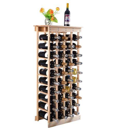 COSTWAY Weinregal »Flaschenregal Weinschrank Weinflaschenhalter«, aus Holz, für 44 Flaschen, Natur