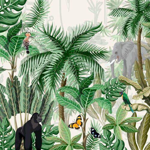 Paper+Design Papierserviette »Regenwald«, 33 cm x 33 cm