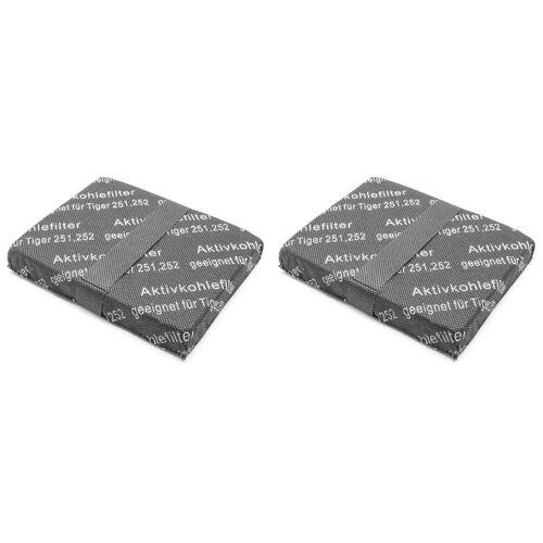AccuCell Staubsaugerrohr 2x Staubsaugerfilter, Aktivkohlefilter, Kohlefas