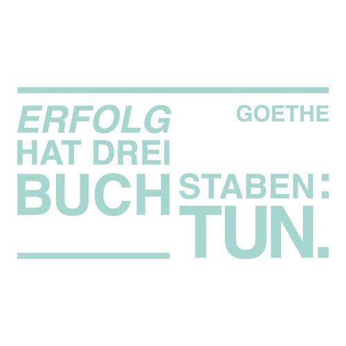dekodino Wandtattoo »Erfolg hat drei Buchstaben: Tun - Goethe« (1 Stück), 49 - mint