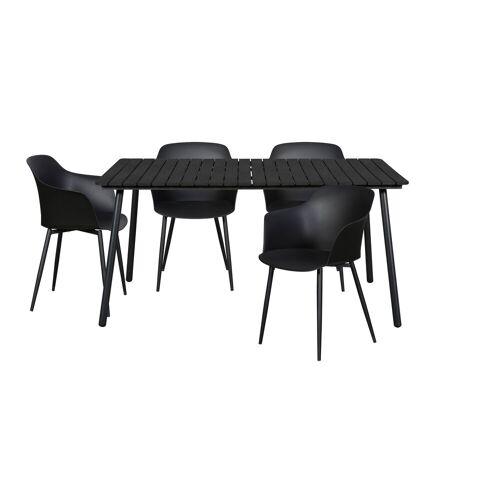 ebuy24 Essgruppe »Dris Gartenmöbel Set 1 Tisch und 4 Stühle.«