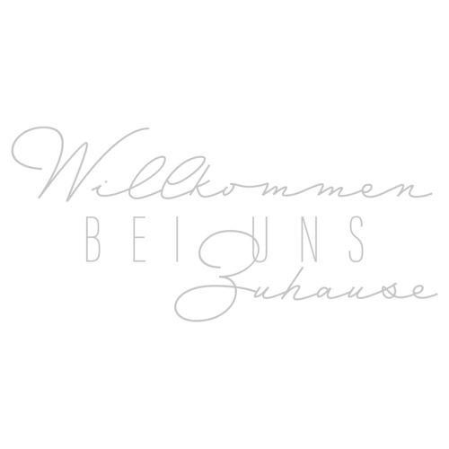 dekodino Wandtattoo »Willkommen bei uns Zuhause« (1 Stück), 04 - grey