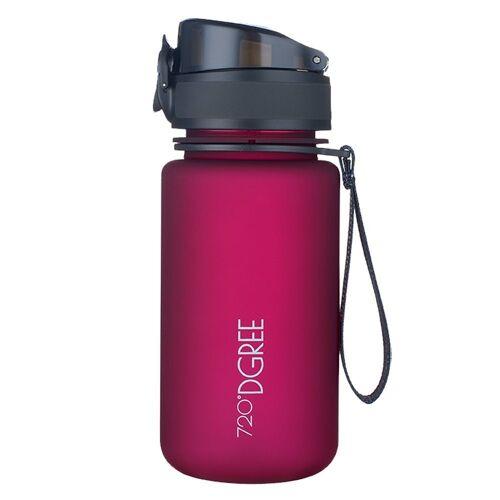 720°DGREE Trinkflasche, Trinkflasche, Wasserflasche, 350ml, Auslaufsicher, Sportflasche, für Schule, Sport, Outdoor, Wandern, Fahrrad, mit Früchtesieb, lavish plum