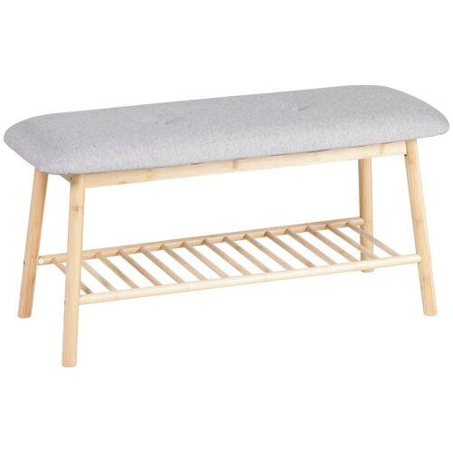 axentia Sitzbank »Bambus«, mit Ablage