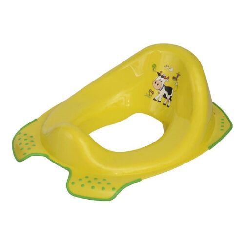 Lorelli Toilettentrainer »Toilettenaufsatz Farm«, grün, Toilettensitz Spritzschutz ergonomische Form