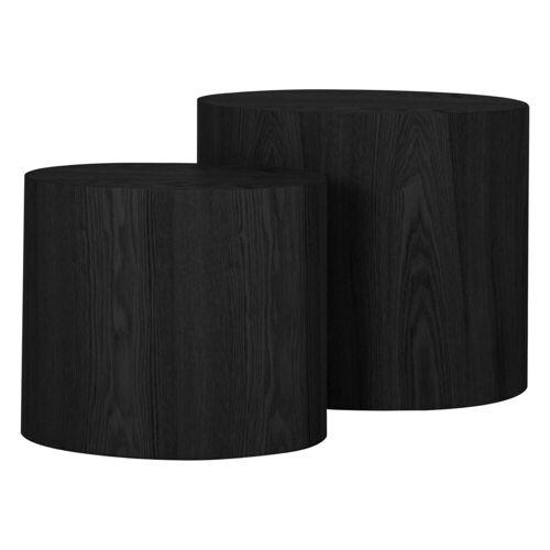 mokebo Couchtisch »Der Stämmige«, auch als Beistelltisch im skandinavischen Design, Eichenholz Schwarz 03