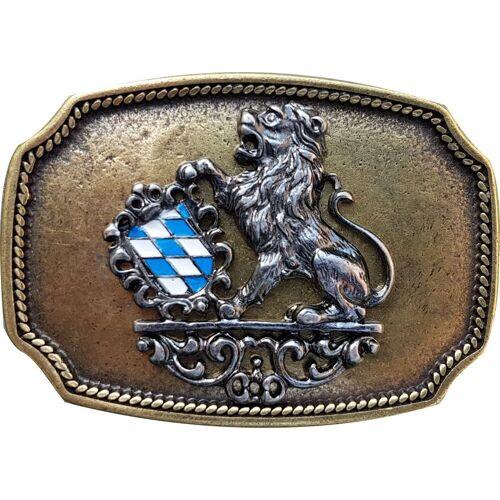 FRONHOFER Gürtelschnalle »18208« Trachten Gürtelschnalle Bayerisches Wappen, Löwe, Schnalle 4 cm