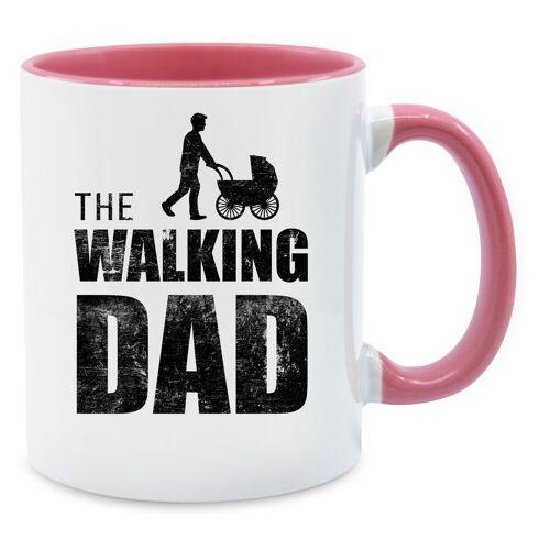 Shirtracer Tasse »The Walking Dad - Tasse zweifarbig - Tassen«, Vatertagsgeschenk, 02 Rosa