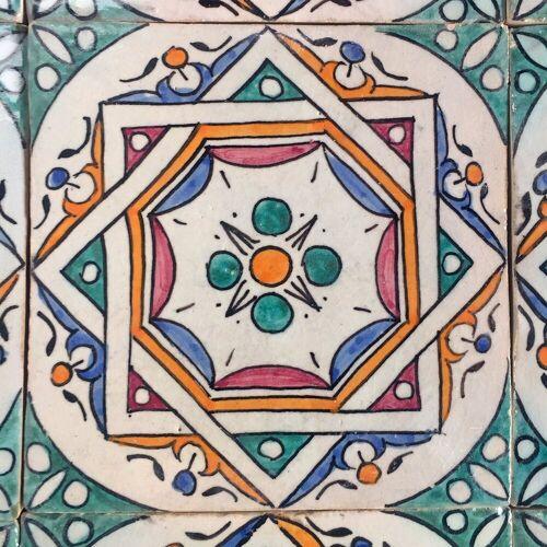 Casa Moro Fliesenaufkleber »Orientalische Keramik Fliesen handbemalte marokkanische Fliese Samia 10 x 10 cm, Wandfliese für schöne Küche Badezimmer«