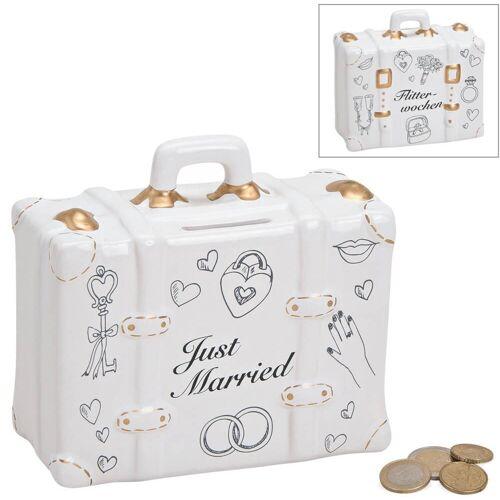 matches21 HOME & HOBBY Spardose »Spardose Koffer Hochzeit Hochzeitsgeschenk Geldgeschenk Sparbüchse«
