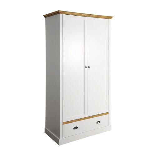 ebuy24 Kleiderschrank »Sandy Kleiderschrank mit 2 Türen und 1 Schublade w«