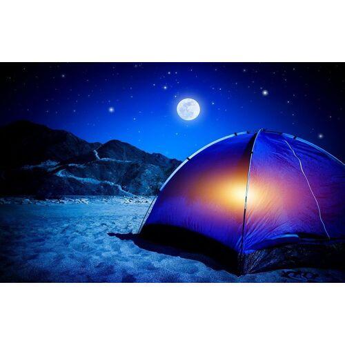 Bilderdepot24 Deco-Panel, selbstklebende Fototapete - Camping bei Nacht, Farbig