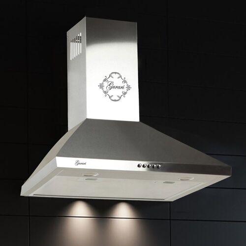 GURARI Wandhaube GCH 147 6, Dunstabzugshaube 60 cm, in Edelstahl, 1000m³/h,Sehr Saugstark, 3 Stufen,Abzugshaube, Energieeffizienzklasse C