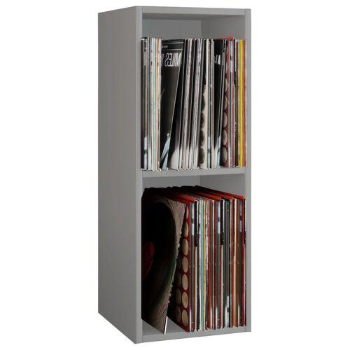 """VCM CD-Regal »Schallplatten Regal """"Platto 2fach""""«, Grau"""