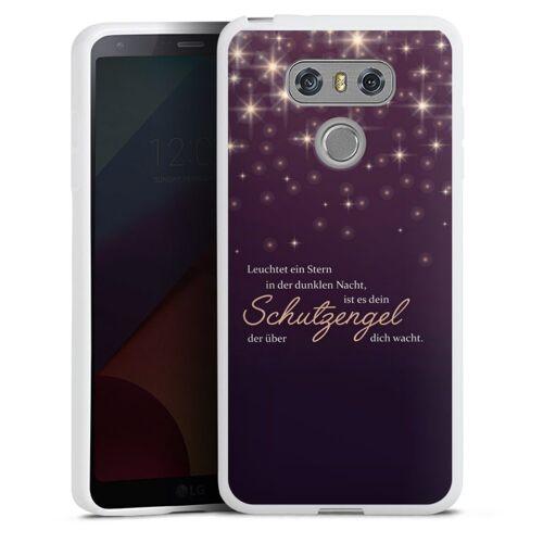 DeinDesign Handyhülle »Schutzengel« LG G6, Hülle Engel Schutzengel Sprüche, weiß