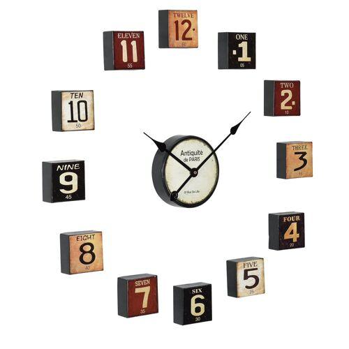 en.casa Wanduhr (mehrteilige Design Uhr)