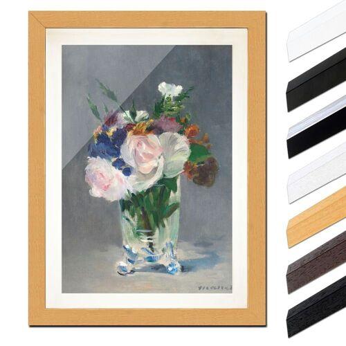 Bilderdepot24 Wandbild, Édouard Manet - Blumen in einer Kristallvase, Buche