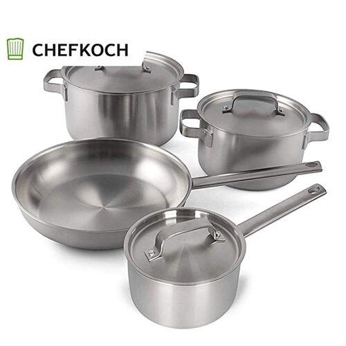 CHEFKOCH Topf-Set »CH6699«, Edelstahl, 4-teiliges Edelstahl-Kochtopfset