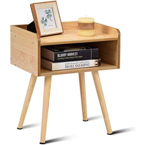 COSTWAY Nachttisch »Nachtkommode Beistelltisch Telefontisch«, Natur