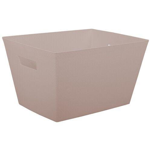 ONDIS24 Aufbewahrungsbox »Aufbewahrungsbox Otello Nähekiste Handtuchbox Tragekorb 30 Liter«, 30 liter, Beige
