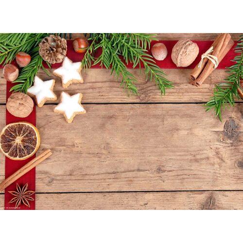 Tischsetmacher Platzset, »Tischsets I Platzsets abwaschbar - Weihnachten - Zimtsterne Allerlei - aus erstklassigem Vinyl (Kunststoff) - 4 Stück - 44 x 32 cm - rutschfeste Tischdekoration«, , (4-St)