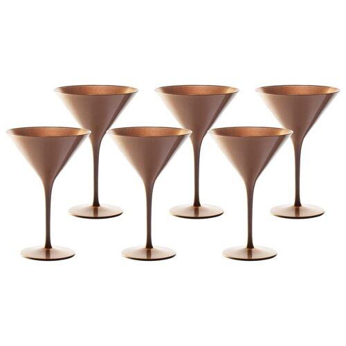 Stölzle Gläser-Set »ELEMENTS Cocktailschale Bronze 6er Set« (6-tlg)