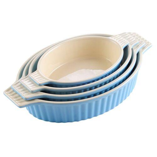 MALACASA Backform »Bake.Bake«, (4-tlg), mikrowellengeeignet, Blau
