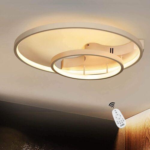 ZMH Deckenleuchte »Deckenlampe dimmbar mit Fernbedienung Weiße Wohnzimmerlampe Eisen Kronleuchte Esszimmerlampe Schlafzimmerlampe Badezimmerlampe«