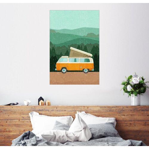 Posterlounge Wandbild, Camping im Van