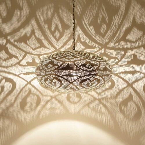 Casa Moro Hängeleuchte »Orientalische Hängeleuchte Sefrou D50 Silber«