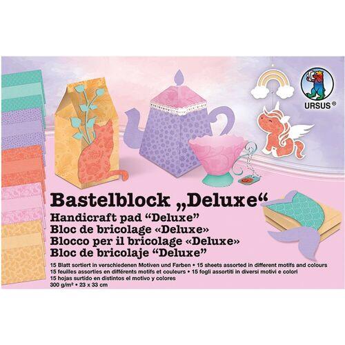 URSUS Papierdekoration »Bastelblock Deluxe 23 x 33 cm, 15 Blatt«